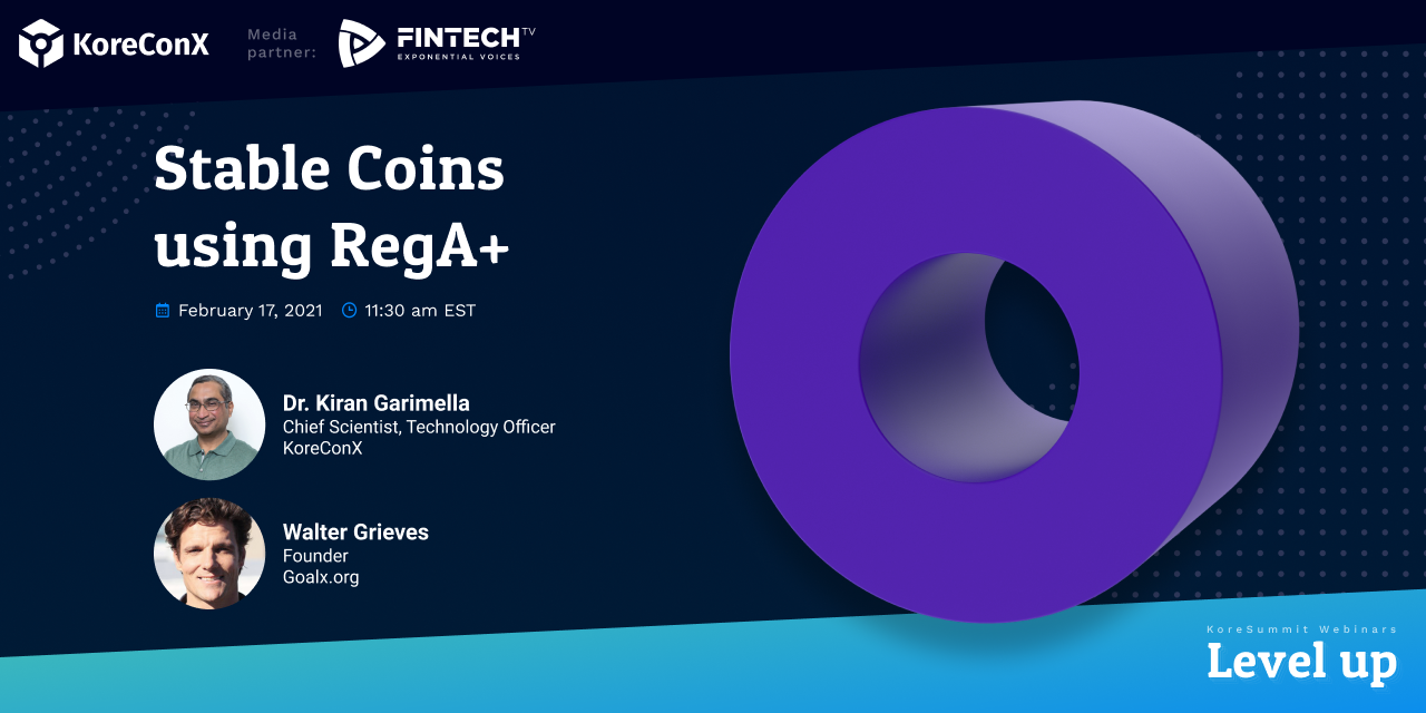 Stable Coins using RegA+