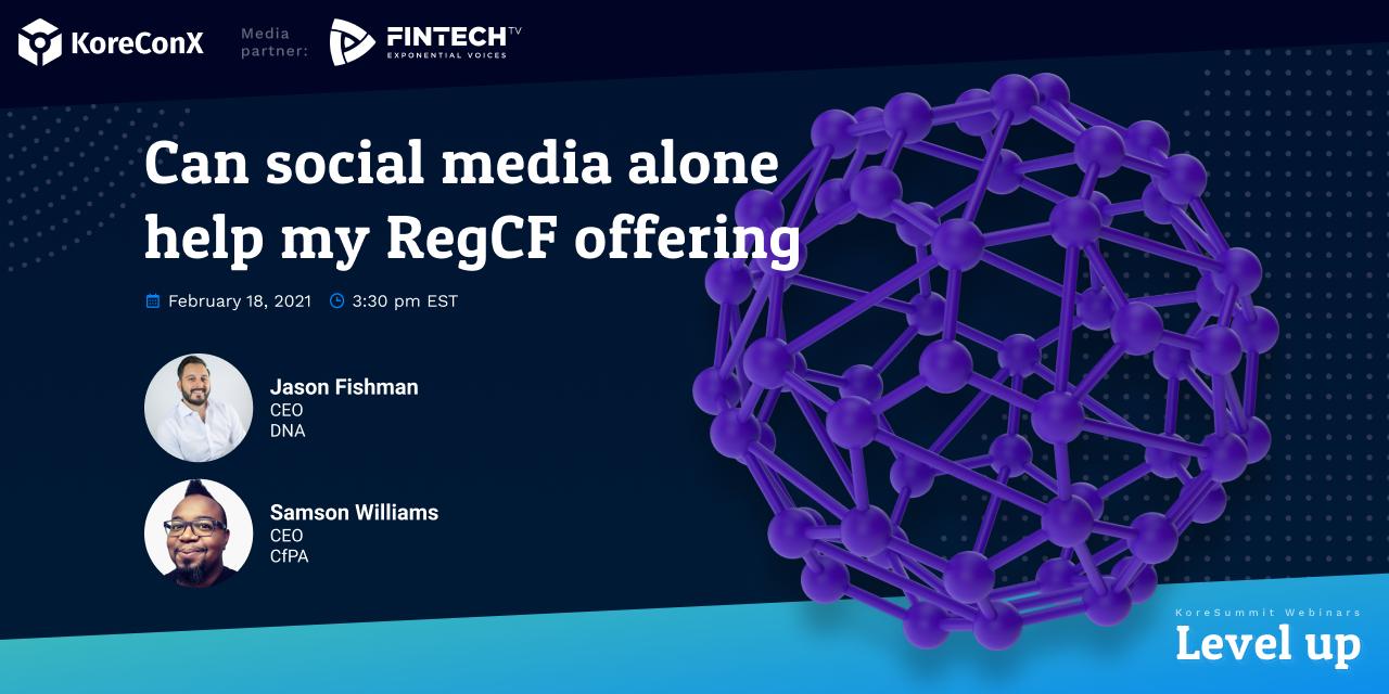 Can social media alone help my RegCF offering